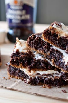Chocolate Stout Smores Bars
