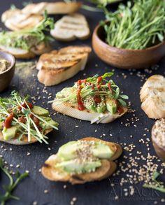 Forget avocado toast! Jackie's Sesame Avocado Crostini is where it's at!  via @veganyackattack