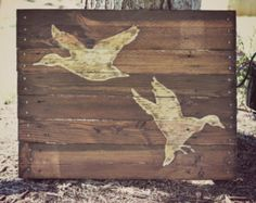 Deer Buck Pallet Wood Art Pallet Sign Decor by HarveyPalletDesigns