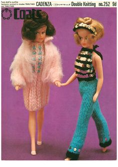 Fashion Doll Clothes  Knitting Pattern  Coates 252 by RolandsRetro