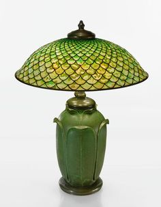 "TIFFANY STUDIOS AND GRUEBY FAIENCE COMPANY | A Rare ""Fish Sc"