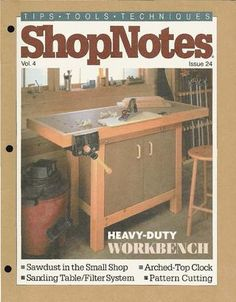 Shopnotes issue 24 Woodworking Books, Build Something, Pattern Cutting, Hobbies And Crafts, Carpentry, The Borrowers, Projects To Try, Workshop, Shopping