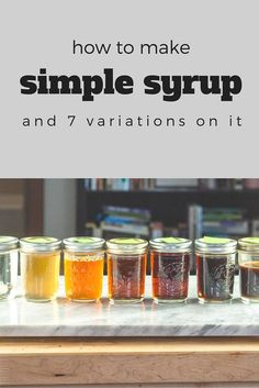 How to Make Simple Syrup. A lesson on how to make the essential cocktail ingredient, as well as variations on the basic simple syrup. Simple Syrup For Cakes, Make Simple Syrup, Make It Simple, Simple Syrup For Cocktails, Honey Simple Syrup Recipe, Simple Syrup Recipe Drinks, How To Make Syrup, Honey Syrup, Refreshing Drinks