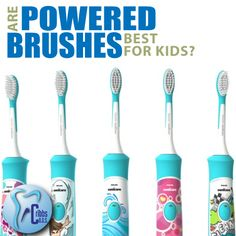 When it comes to the type of toothbrushes your kids like, they are almost always drawn in by bright colors more so than by design or functionality.   Although in comparison, nothing seems to beat powered brushes. Kids seems to like powered brushes better and will use them longer. The longer your child will brush her teeth, the better her oral health. So a inexpensive battery operated toothbrush might be worth the investment.   #FriendlyTip #PearlyWhites #Smile #Knoxville