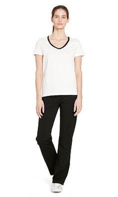 Stretch Cotton Straight Pant - Lauren Pants - RalphLauren.com