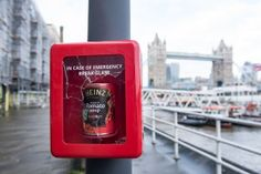 Heinz Soup  Break In Case of Emergency boxes!  BREAK IN CASE OF WINTER EMERGENCY  Heinz brrrrr-ings the heat across the UK with breakable soup cases to fight the freeze  London 16 January: As Winter sets in commuters across the UK were given a warming surprise after Break In Case Of Emergency cases containing a free can of the nations favourite Heinz Cream of Tomato Soup were placed across cities. Throughout soup season Heinz will be popping up in the coldest cities and towns across the UK…