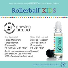 Kids essential oil roller bottle recipe: growing kiddo!