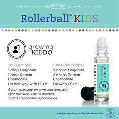 Kids essential oil roller bottle recipe: growing kiddo!
