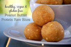 Vegan Peanut Butter Protein Raw Bites - low carb, gluten free, vegan, refined sugar free, no bake, bliss balls, clean eating recipes