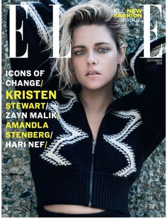 Kristen Stewart by Liz Collins for ELLE UK September 2016 Cover - Chanel
