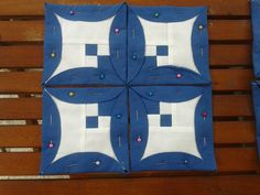 Plegado japonés - variación preciosa./ Beautiful blocks, Piękne bloki paczłorkowe/.