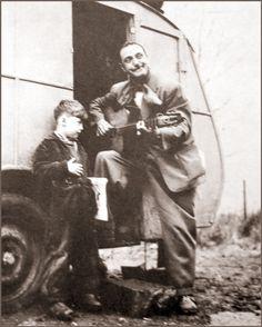 Django Reinhardt and friend. Django overcame a crippling hand injury to become a unique guitar talent