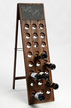 Vintage Wine Rack and Chalkboard