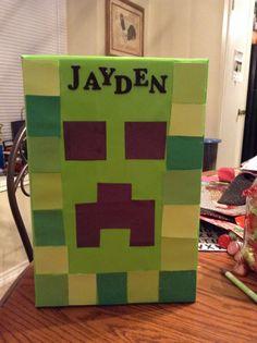 "Valentine's box ""Minecraft Creeper"""