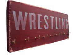 Wrestling Medals Hanger by runningonthewall on Etsy, $28.00