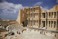 ✮ A restored theater at the site of the ancient Roman city of Sabratha; the theat er dates from 180 A. The area was originally settled under Carthaginian rule in the century B. The buildings were mainly constructed of a soft local limestone. Beauty Around The World, Around The Worlds, Local Dating Sites, Places To Travel, Places To Go, Roman Theatre, Roman City, Roman Architecture, Africa Art