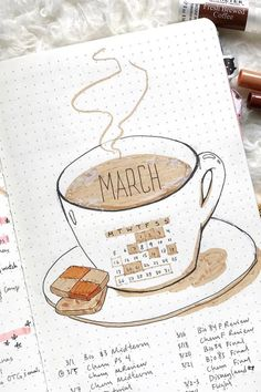 Bullet Journal Monthly Cover Ideas for March 2019 # livingroomdesign . - Bullet Journal Monthly Cover Ideas for March 2019 # livingroomdesign # - Bullet Journal School, Bullet Journal Inspo, Digital Bullet Journal, Bullet Journal Spreads, March Bullet Journal, Bullet Journal Cover Page, Bullet Journal Aesthetic, Bullet Journal Notebook, Bullet Journal Ideas Pages