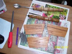 Instructions for making your own wool hand combs
