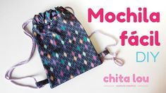 Sewing Tutorials, Sewing Projects, Sewing Patterns, Sewing For Kids, Baby Sewing, Sewing Diy, Mochila Tutorial, Drawstring Backpack Tutorial, Diy Backpack