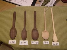 Replica spoons from Coppergate, York Excavation  circa 9th-10th century