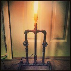 Iron pipe lamp