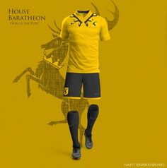 Designer Nerea Palacios did an awesome job with these World Cup kit concepts that show off what the various houses on Game Of Thrones would look like if they were playing in some World Cup-style soccer tourney in Westeros that's sponsored by Nike. Which one has the best look? Might have to give the gold to the White Walkers.