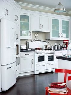 Love the fridge, in case my dream kitchen can't include a 30k industrial fridge...you know, options... #CambriaQuartz