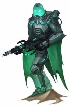 Kalo Sharkhunter Soldier - Starfinder RPG (Alien Archive art)