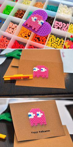Hama bead Halloween card!