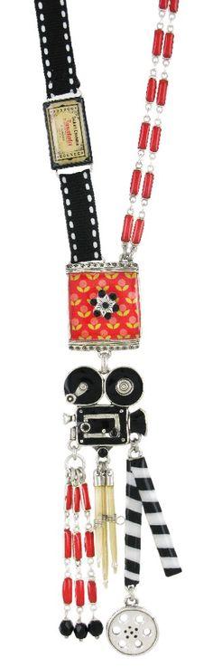 Collier TARATATA. Bijoux créateurs. En vente en boutique et sur notre site internet : http://www.bijouterie-influences.com/search.php?search_query=Taratata+septieme+art
