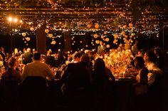 Golden Reception Lighting    Photography: Boyd Harris Photographs   Read More:  http://www.insideweddings.com/weddings/alfresco-autumn-wedding-in-napa-california/457/