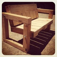 Pallet Bench  Upcycled Patio Furniture by PalletLifeShop on Etsy, $600.00