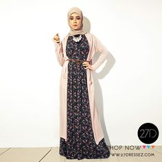 Printed Maxi hijab dress with long cardigan - summer outfit | SS14 ...