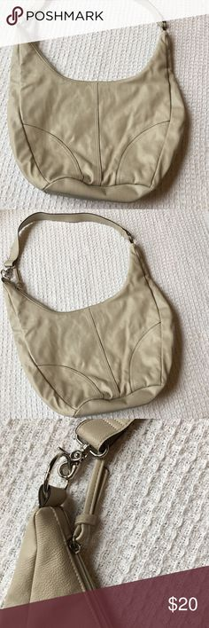 "Like New! Old Navy Beige Hobo Bag Large Very large bag! Please pay attention to measurements. Sorry I don't model.  Condition: Excellent! No signs of wear, very clean.   Brand: Old Navy  Material: Faux leather  Measurements: 18.5"" wide, 11"" tall (middle portion of bag), 18"" tall on sides, 6"" deep, 18"" strap drop.  Smoke-free home. Old Navy Bags Hobos"