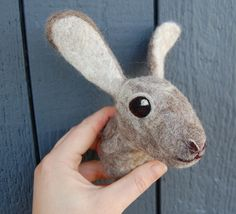 The third and final quarter of my Certificate of Fiber Arts is under way and I am creating a big faux taxidermy piece for my final project. Faux Taxidermy, Animal Heads, Felt Animals, Needle Felting, Fiber Art, Goats, Rabbit, Cute, Projects