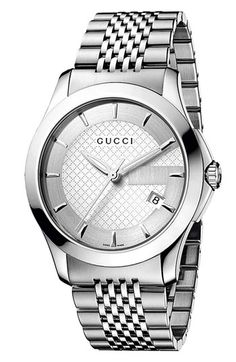 Gucci 'G Timeless' Stainless Steel Bracelet Watch, 38mm available at #Nordstrom