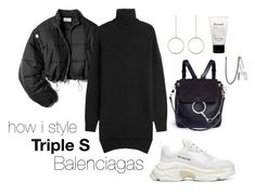 """how i style triple s balenciagas #1"" by natalyjuanita ❤ liked on Polyvore featuring 3.1 Phillip Lim, Isabel Marant, Chloé, philosophy and Palm Angels"