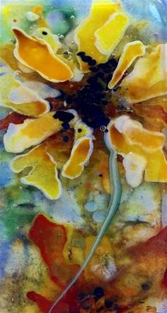 "Daily Paintworks - ""sunflowers deep"" - Original Fine Art for Sale - © Kristen Dukat"