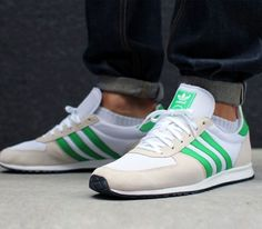 adidas Originals Adistar Racer – Running White / Bliss – Real Green