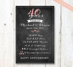 25th anniversary gift for wife - 25th anniversary chalkboard sign - 25 years of married DIGITAL FILE!  - THIS LISTING IS FOR A DIGITAL COPY ONLY -