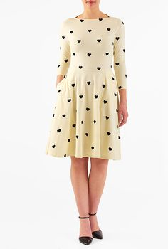 I <3 this Heart embellished cotton knit dress from eShakti