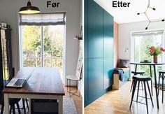 Før og etter: Nytt favorittrom til gjester og lek | Boligpluss.no Diy Sofa, Kos, Windows, Bamboo, Diy Couch, Aries, Window, Ramen
