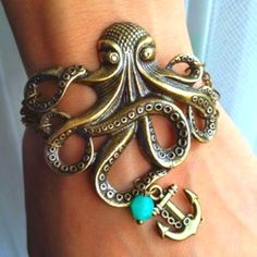 Octopus bracelet with anchor