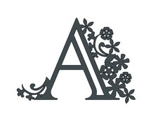 Free Paper Cut Alphabet Templates For Cricut ⋆ Extraordinary Chaos Paper Cutting Patterns, Paper Cutting Templates, Alphabet Templates, Templates Printable Free, Cricut Banner, Vinyl Paper, Free Stencils, Flower Template, Laser