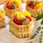 Pastry Shellswith Fruit & Orange Cream