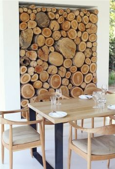 : top ten stylish ways to store firewood Africa Day, South Africa, Firewood Storage, Interior Decorating, Interior Design, Interior Exterior, Commercial Interiors, Simple House, Retail Design