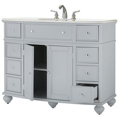 Home Depot $799.00 Home Decorators Collection Hampton Harbor 45 in. W x 22 in. D Bath Vanity in Dove Grey with Natural Marble Vanity Top in White