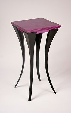The Violet Table: Michael McCoy: Wood Side Table ~ Artful Home Art Furniture, Cabinet Furniture, Woodworking Furniture, Unique Furniture, Wooden Furniture, Furniture Design, Wooden Tables, Decoration, Home Decor