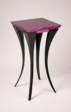 The Violet Table: Michael McCoy: Wood Side Table ~ Artful Home Art Furniture, Cabinet Furniture, Woodworking Furniture, Unique Furniture, Painted Furniture, Furniture Design, Wooden Tables, Wood And Metal, Decoration