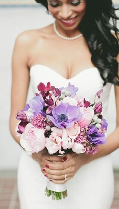 Featured Photographer: Onelove Photography; Elegant purple wedding bouquet